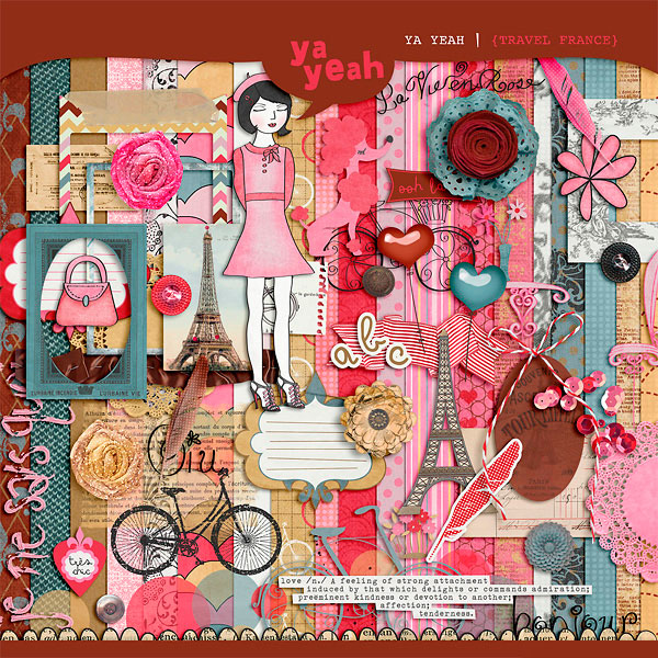 New Kit Travel Paris AND Free matching Journaling Cards!